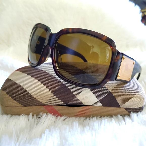 BURBERRY 4034 Brown Tortoise & Gold Sunglasses